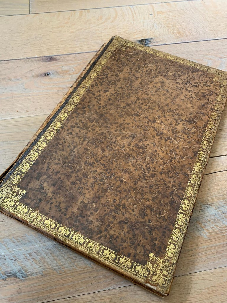 19th-20th Century French Leather Folio For Sale 1