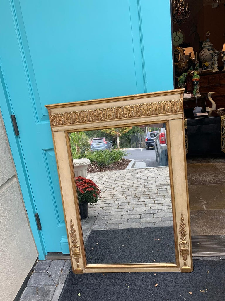 19th-20th century French Regency polychrome and gilt mirror.
