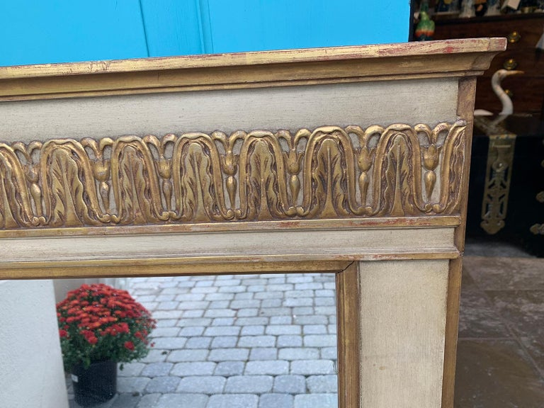 19th-20th Century French Regency Polychrome and Gilt Mirror For Sale 6