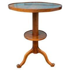 19th-20th Century French Walnut Round Side Tripod Table