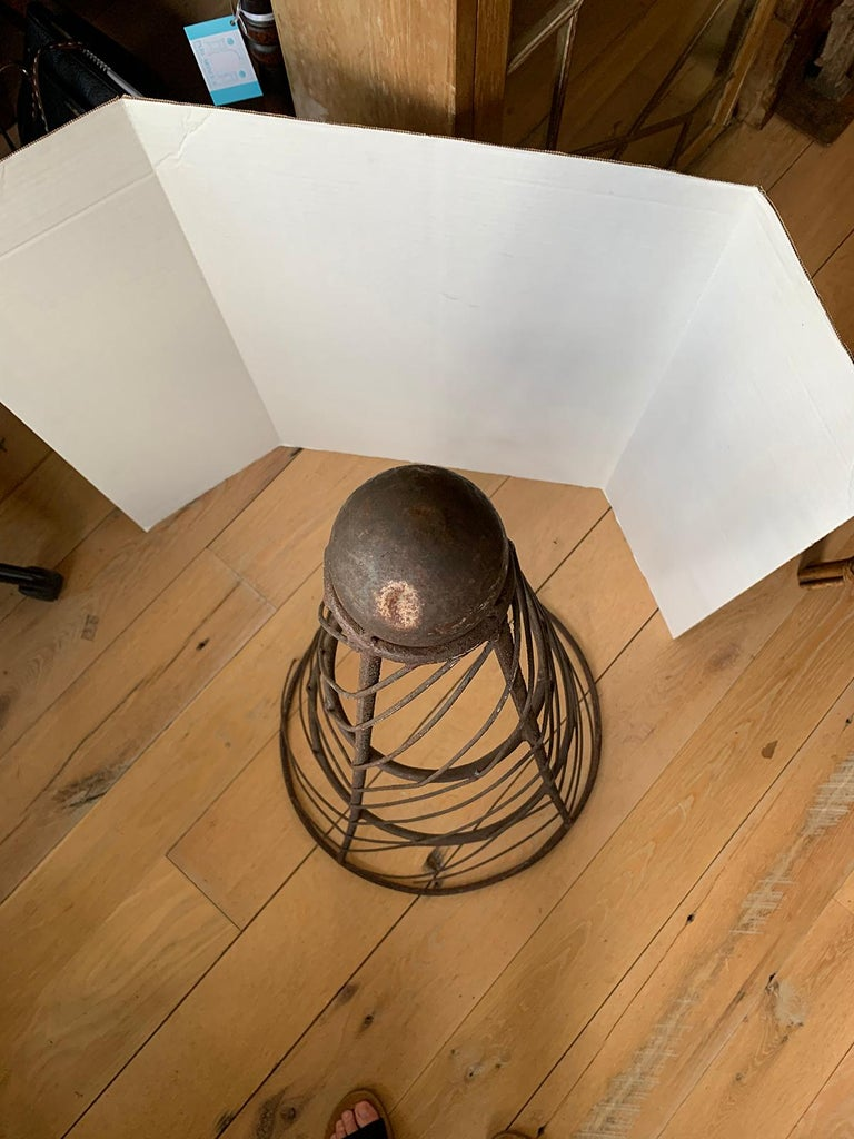 19th-20th Century Iron Cone Topiary For Sale 7