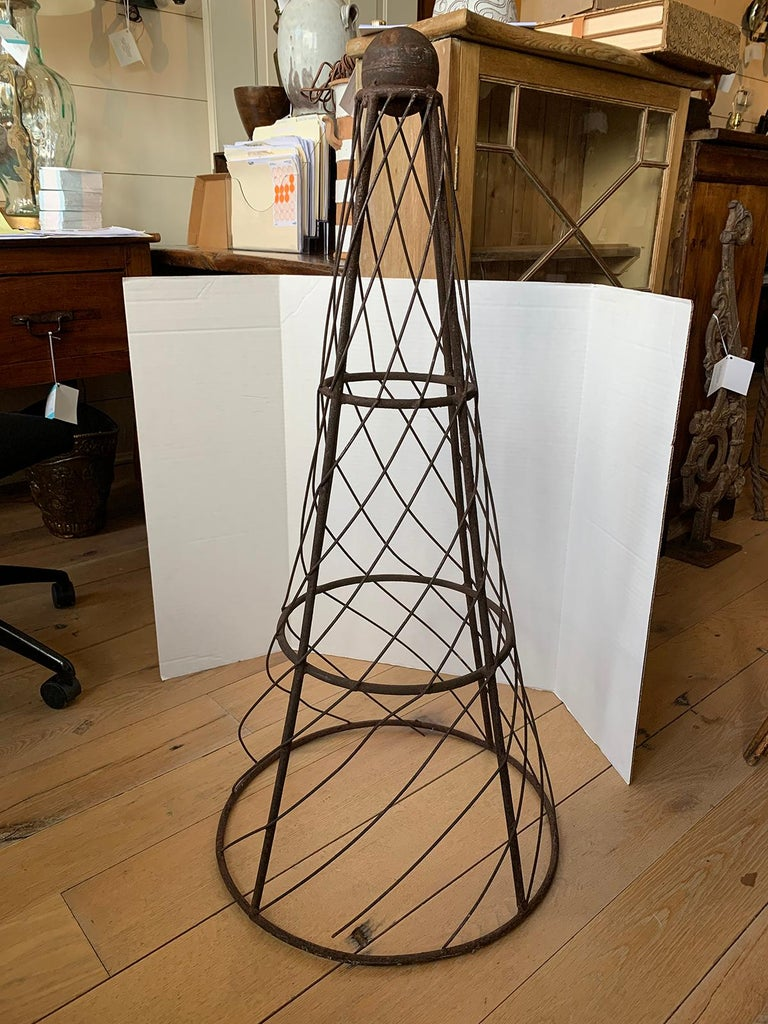 19th-20th Century Iron Cone Topiary For Sale 4