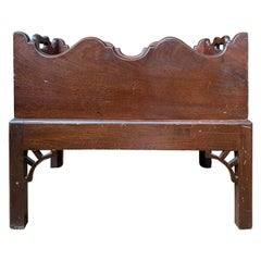 19th-20th Century Mahogany Cellarette or Bottle Carrier on Stand