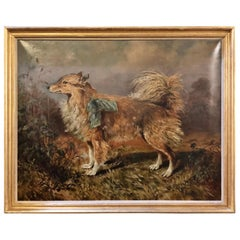 19th-20th Century Oil on Canvas of a Dog in a Landscape by Raymond Dearn