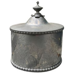 19th-20th Century Pewter Tea Caddy Box