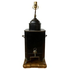 19th-20th Century Regency Style Hot Water Urn as Lamp