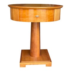 19th-20th Century Swedish Cherrywood Bedside Table by Mobile Fresno Living