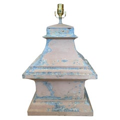 19th-20th Century Tole Architectural Finial as Lamp