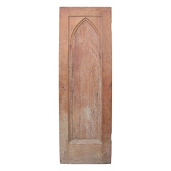 19th-20th Century Wood Door with Gothic Arch