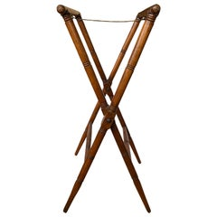 19th-20th Century Wooden Folding Tray Stand