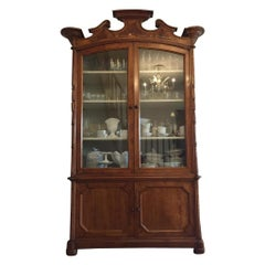 19th Century a Large Italian Cherrywood Cabinet