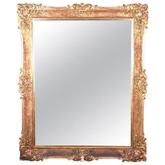 19th Century a Monumental Antique Italian Mirror