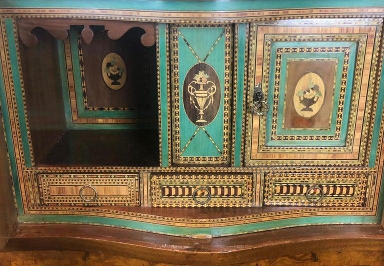 Wood 19th Antique Napoleon III Walnut Secretaire
