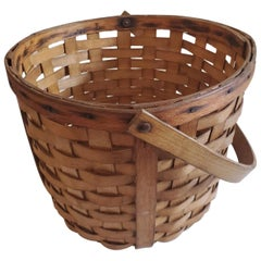 19th Century Apple Basket with Swing Handle