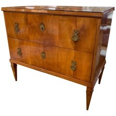 19th Austrian Biedermeier Walnut Commode