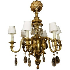 19th Bronze Dore Louis XVI Chandelier