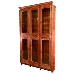 19th Century American Oak & Glass Six-Door Cupboard