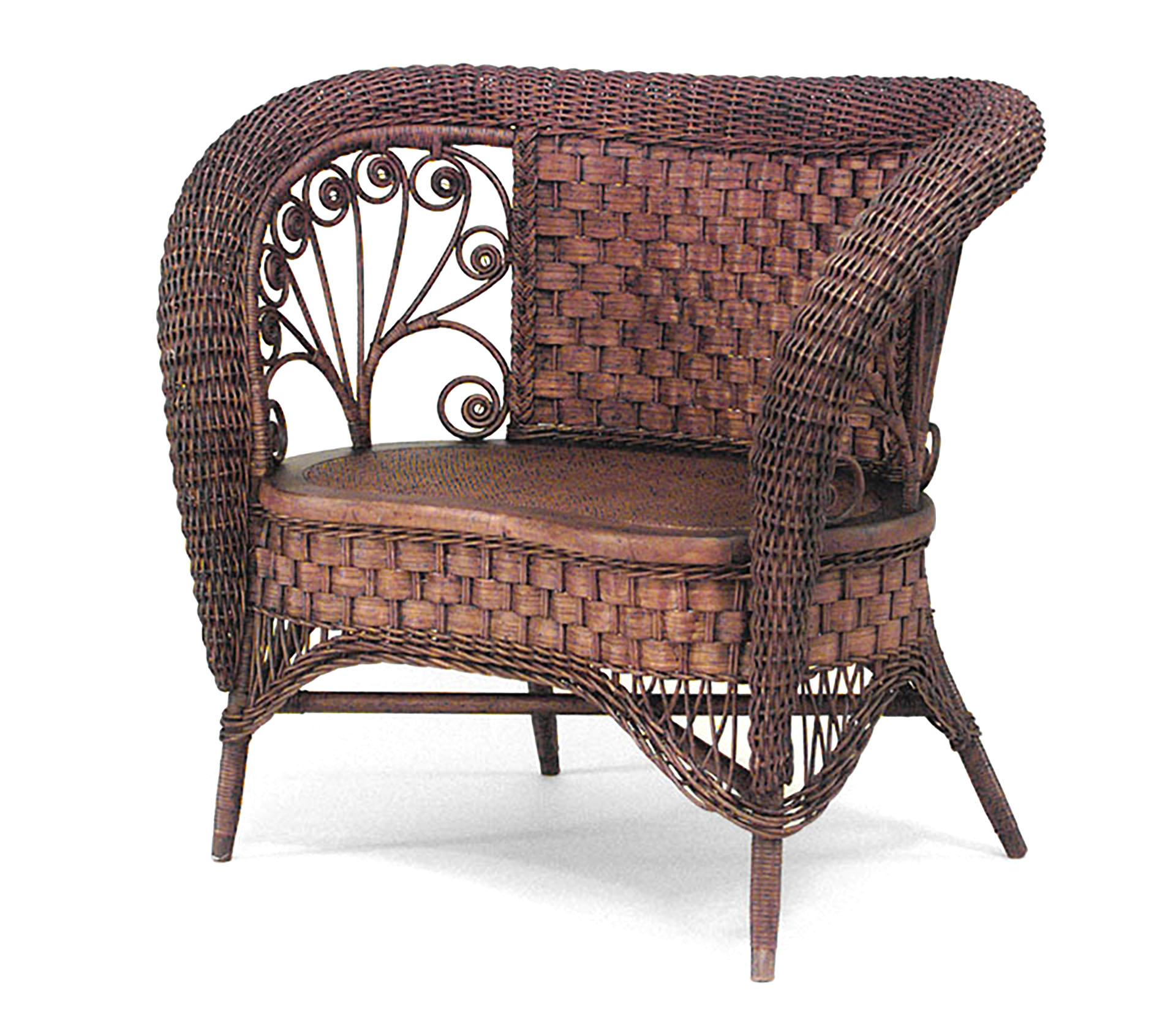 19th Century American Natural Wicker