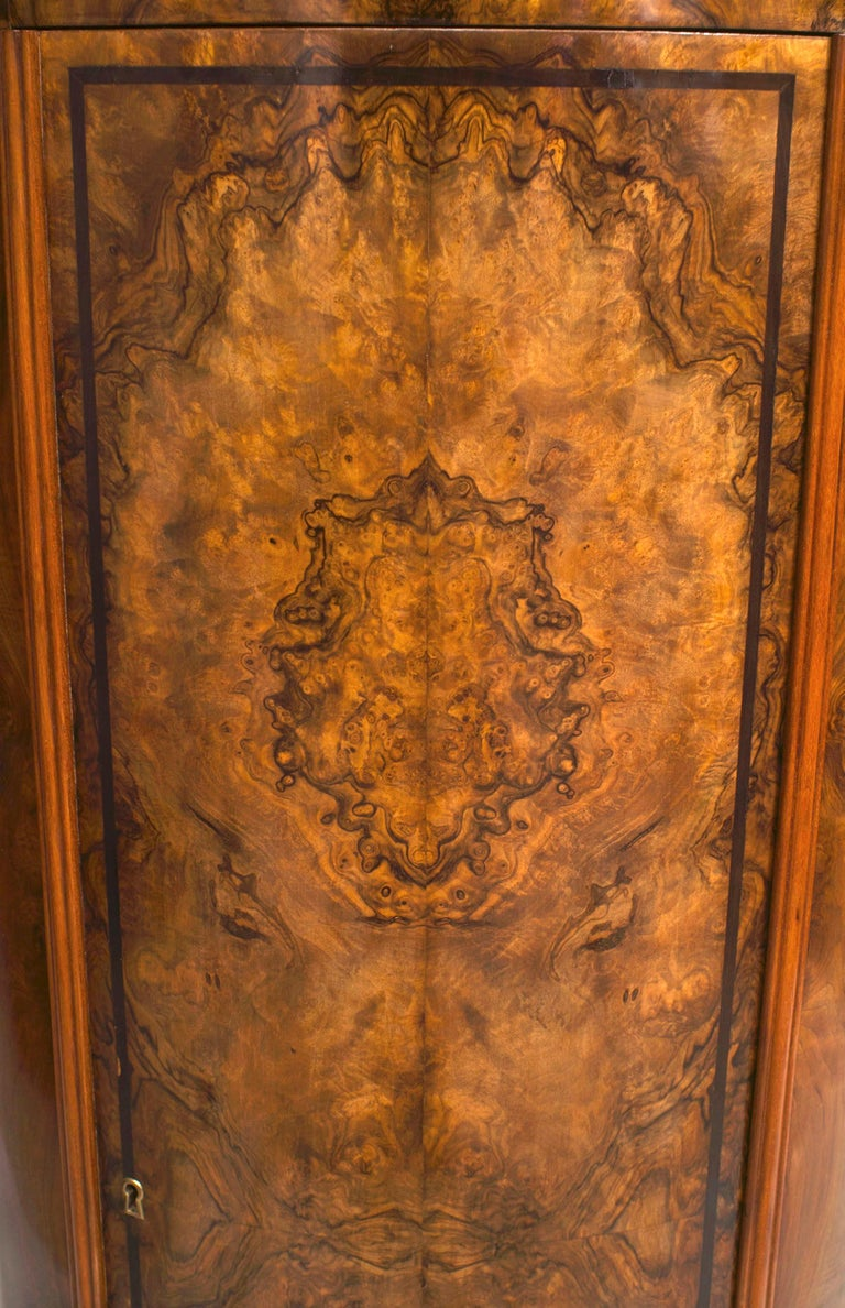 Unknown 19th c. Biedermeier Burl Walnut Pedestal Cabinet For Sale