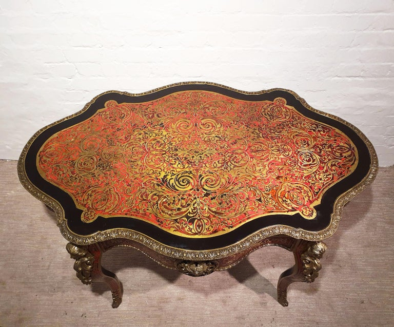 19th Century Boulle Shaped Centre Table For Sale 9