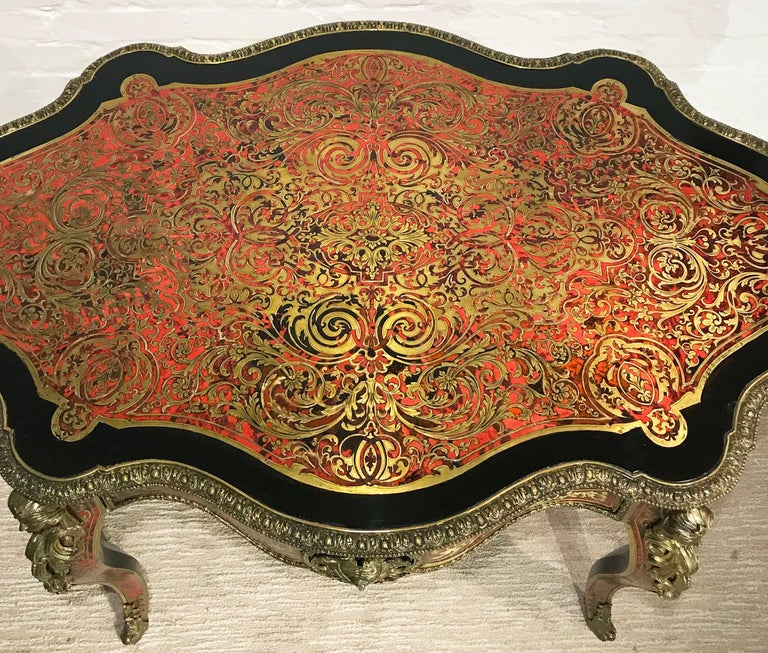 19th Century Boulle Shaped Centre Table In Good Condition For Sale In London, GB