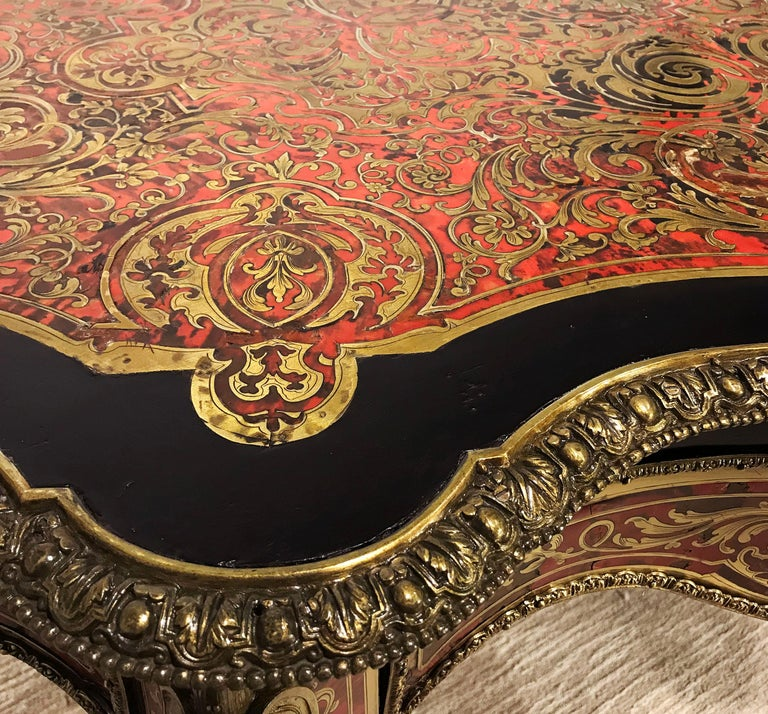 19th Century Boulle Shaped Centre Table For Sale 1