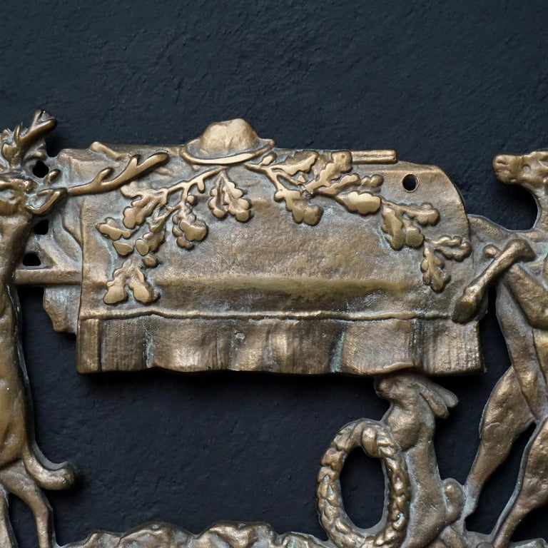 Brass Coat Rack 'the Hunters Funeral' Depiction After Moritz Von Schwind For Sale 2