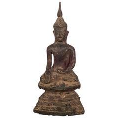 19th Century Bronze Buddha Thai Rattannakasin, circa 1800s