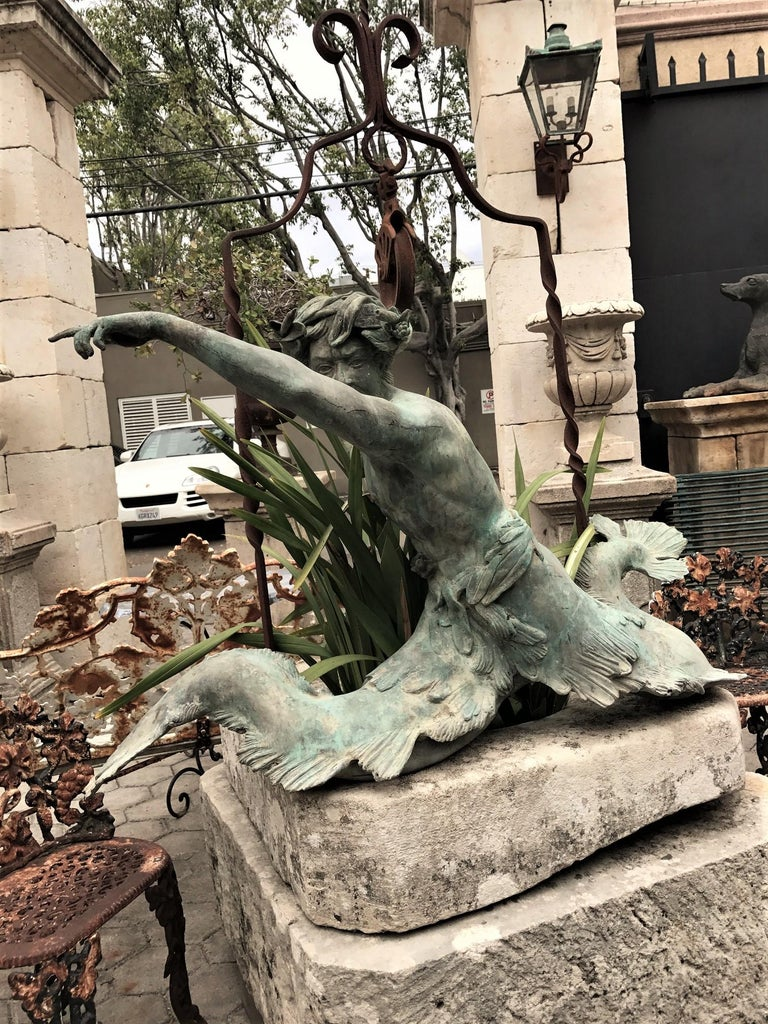 Bronze Statue Center Piece Fountain Decorative Garden Ornament Sculpture For Sale 8