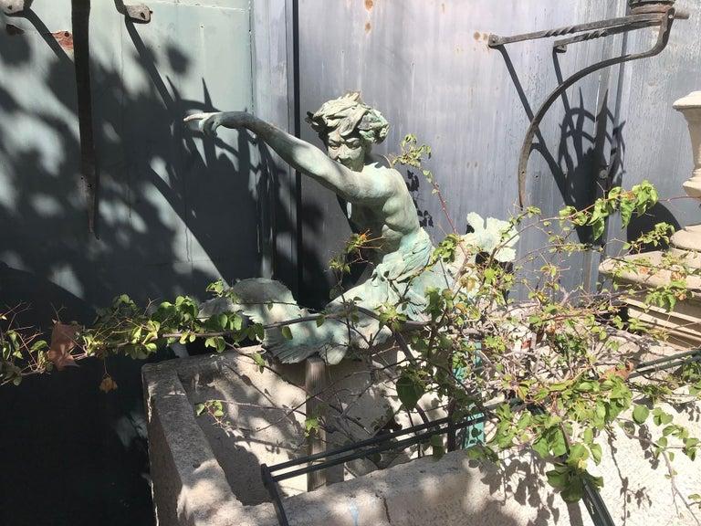 Bronze Statue Center Piece Fountain Decorative Garden Ornament Sculpture For Sale 11