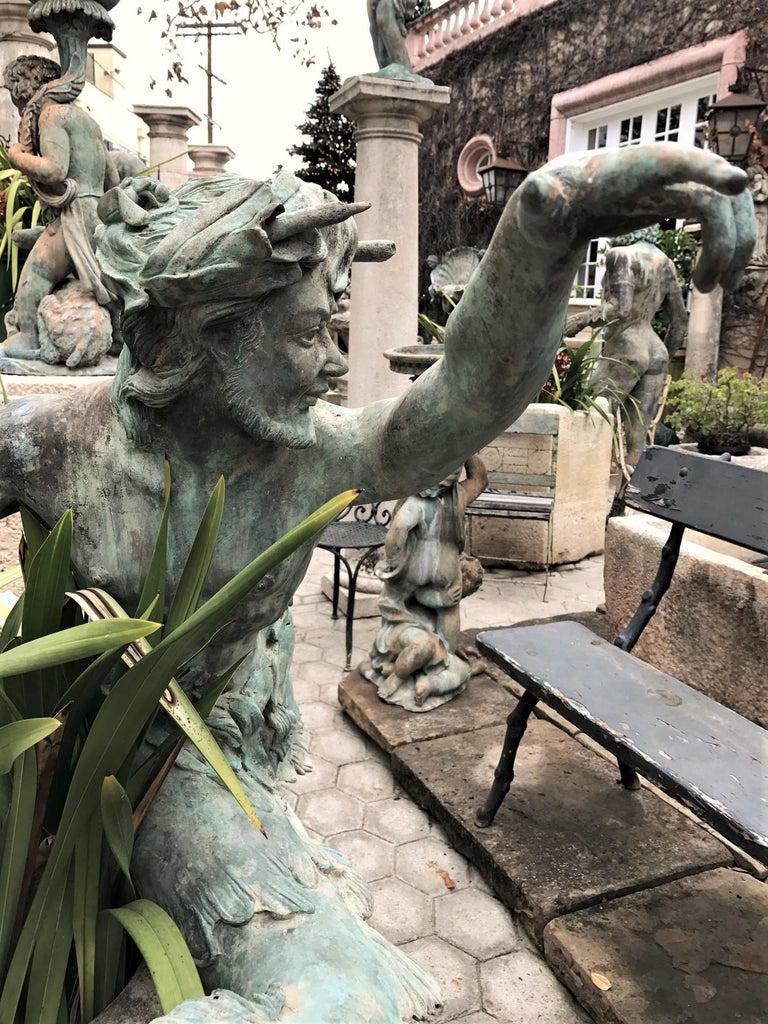 European Bronze Statue Center Piece Fountain Decorative Garden Ornament Sculpture For Sale