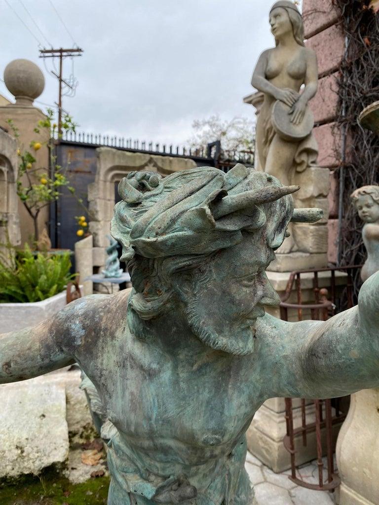 Cast Bronze Statue Center Piece Fountain Decorative Garden Ornament Sculpture For Sale