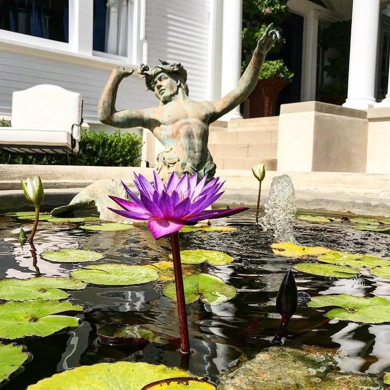 19th Century Bronze Statue Center Piece Fountain Decorative Garden Ornament Sculpture For Sale
