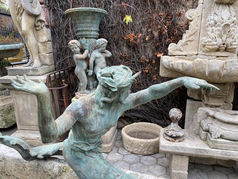 Bronze Statue Center Piece Fountain Decorative Garden Ornament Sculpture For Sale 1