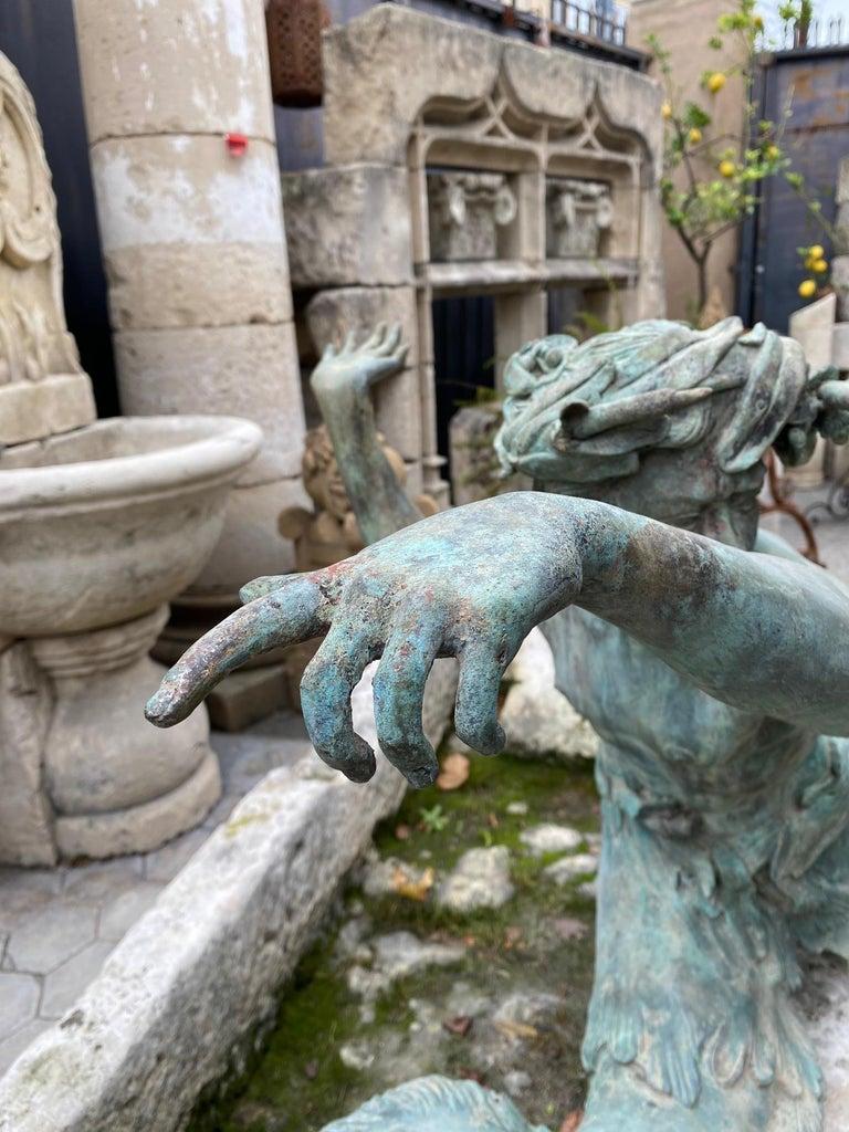 Bronze Statue Center Piece Fountain Decorative Garden Ornament Sculpture For Sale 3