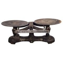 19th Century Cast Iron Balance Scale, circa 1800s