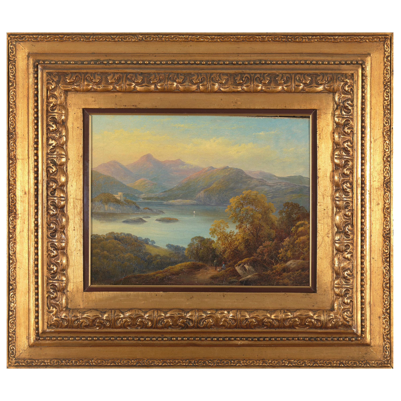 19th Century, Castelli Alessandro, Mountanious Landscape, Oil on Canvas