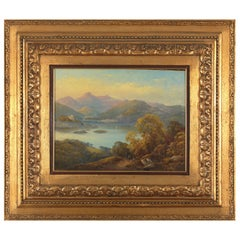 19th Century, Castelli Alessandro, Mountanious Landscape, Oil on Canvas