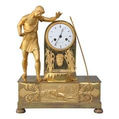 19th Century Clock Representing a Roman Empire Period