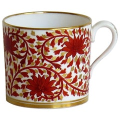Copelands Porcelain Coffee Can Hand Painted and with T Goode of London Mark