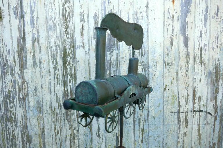 19th Century Cornish Copper Folk Art Steam Train, Locomotive Weathervane For Sale 4
