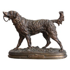 19th Century Dog Sculpture by Pj Mene, Warwick