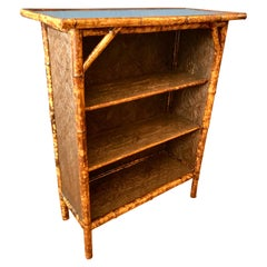 19th C English Bamboo Open Bookcase