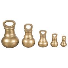 19th Century English Brass Graduating Bell Weights, circa 1800s