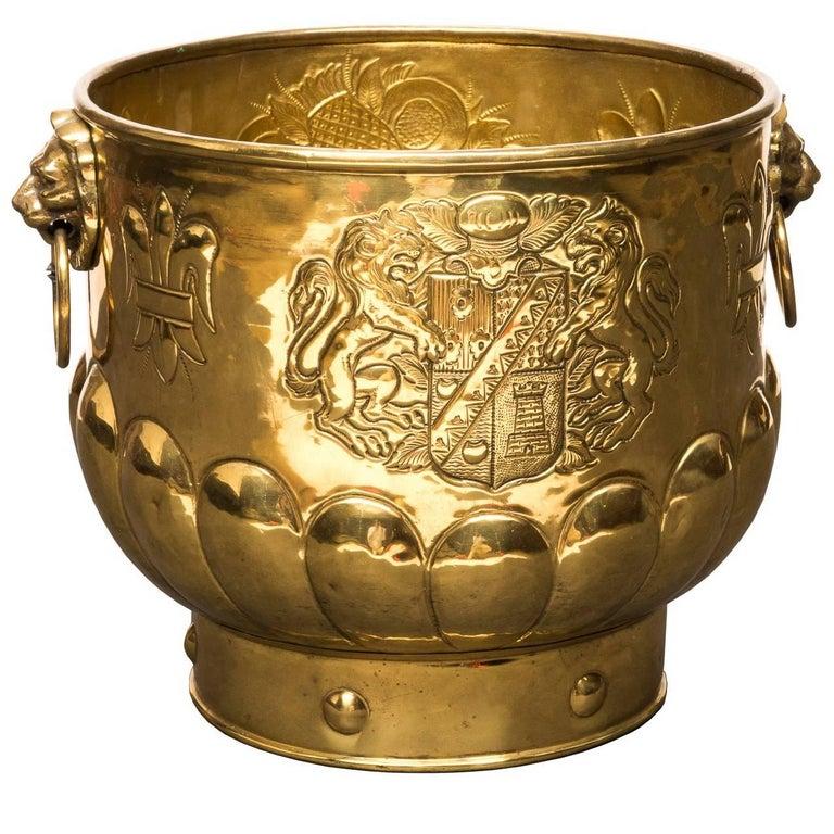 19th Century English Brass Planter