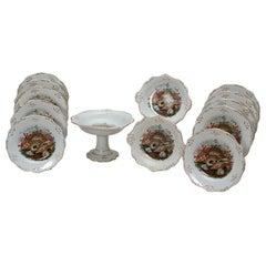 19th C. English Dessert Set With Shells