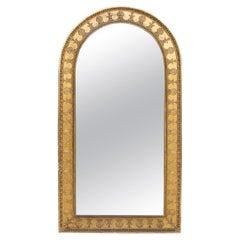 19th Century English Dome Top Gilt Mirror