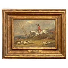 19th C English Miniature Fox Hunt Painting, Attributed to Henry Alken