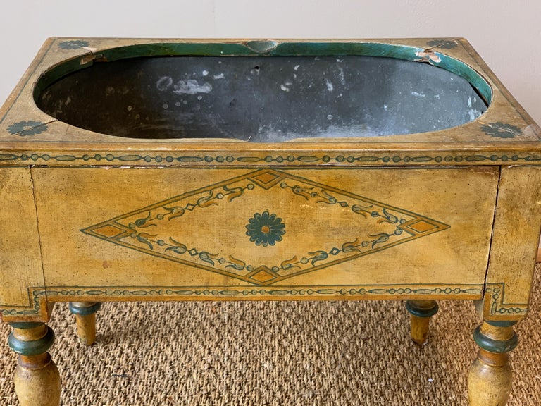 Early 19th Century 19th Century English Paint Decorated Planter