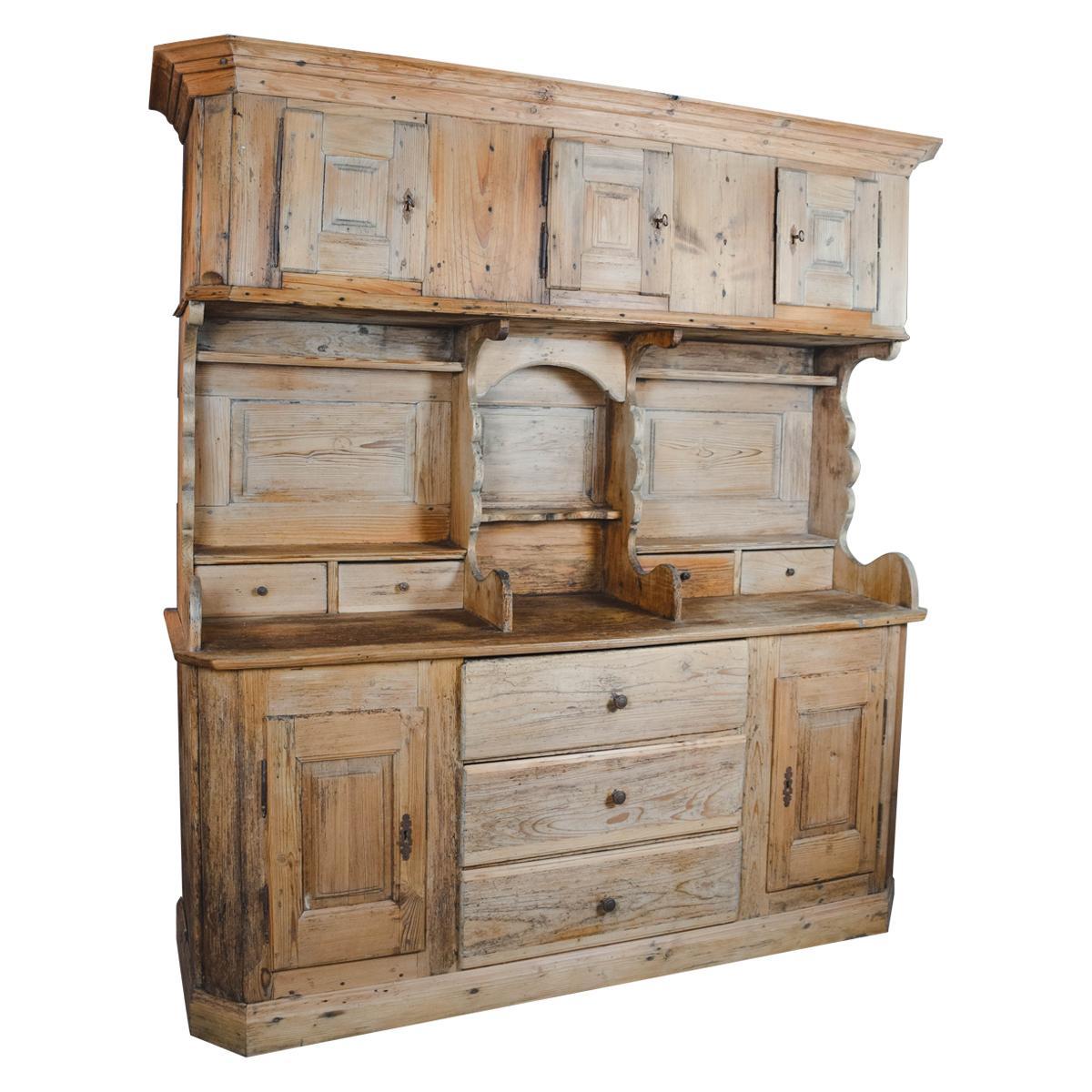 19th Century English Pine Cupboard